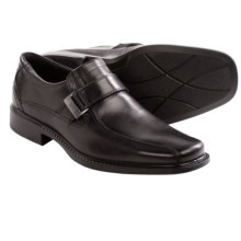 ECCO New Jersey Side Buckle Shoes - Leather, Slip-Ons (For Men) in Black - Closeouts