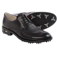 ECCO New World Class Wingtip Golf Shoes (For Men) in Black - Closeouts