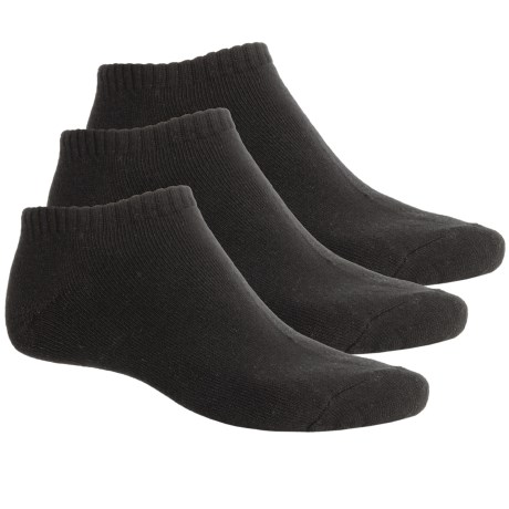 ECCO No-Show Cushioned Golf Socks - 3-Pack, Below-the-Ankle (For Men) in Black/Black/Black