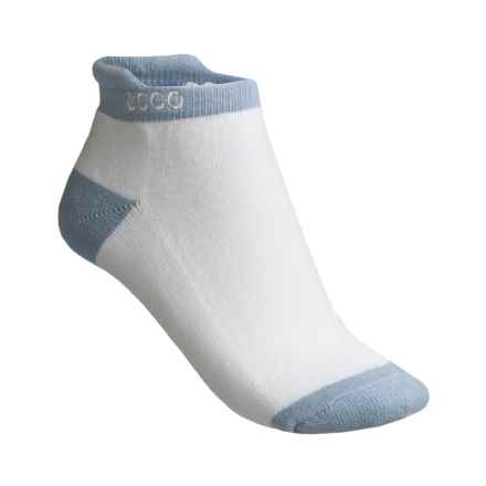 ECCO Notch No-Show Socks - Pima Cotton, Below the Ankle (For Women) in Powder Blue - Closeouts