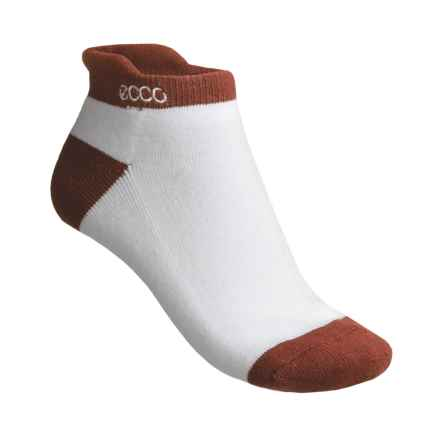 ECCO Notch No-Show Socks - Pima Cotton, Below the Ankle (For Women) in Terra Cotta - Closeouts