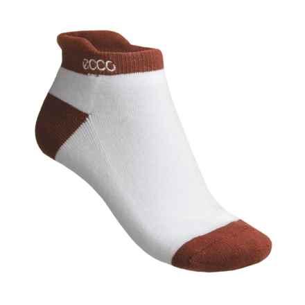 ECCO Notch No-Show Socks - Pima Cotton (For Women) in Terra Cotta - Closeouts