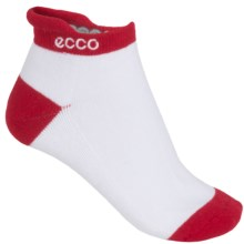 ECCO Notch Sport Golf Socks - Pima Cotton, Ankle (For Women) in Red - Closeouts