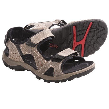 ECCO Offroad Lite Sport Sandals - Leather (For Men) in Beige/Terracotta