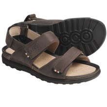 ECCO Passion Sandals - Oiled Leather (For Men) in Dark Clay - Closeouts