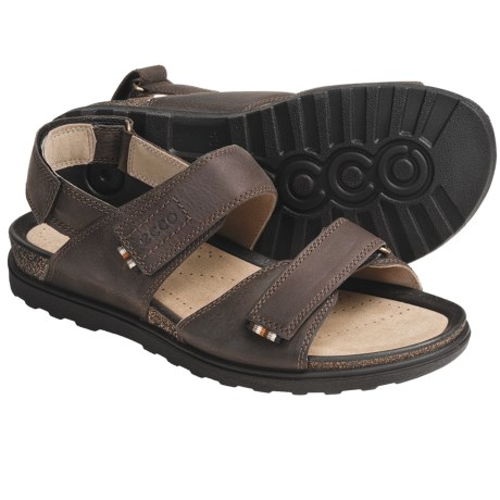 ECCO Passion Sandals - Oiled Leather (For Men) in Dark Clay