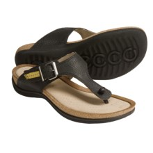 ECCO Passion Thong Sandals - Leather (For Women) in Black - Closeouts