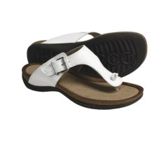 ECCO Passion Thong Sandals - Leather (For Women) in White - Closeouts