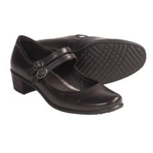 ECCO Pearl Shoes - Soft Buttery Leather, Mary Janes (For Women) in Coffee - Closeouts