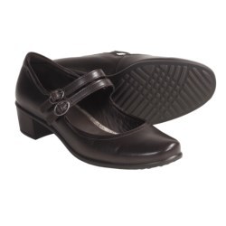 ECCO Pearl Shoes - Soft Buttery Leather, Mary Janes (For Women) in Coffee