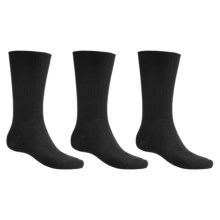 ECCO Ribbed Cotton Socks - Lightweight, 3-Pack (For Men) in Black/Black/Black - Closeouts