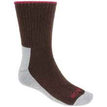 ECCO Ribbed Hiking Socks - Merino Wool, Crew (For Men) in Brown - Closeouts
