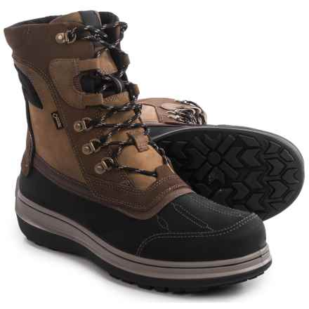 ECCO Roxton Gore-Tex® Snow Boots - Waterproof, Wool Lined (For Men) in Black/Coffee - Closeouts