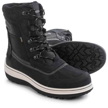 ECCO Roxton Gore-Tex® Snow Boots - Waterproof, Wool Lined (For Men) in Black/Moonless - Closeouts