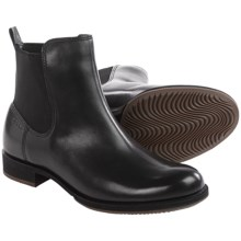 ECCO Saunter Leather Chelsea Boots (For Women) in Black - Closeouts