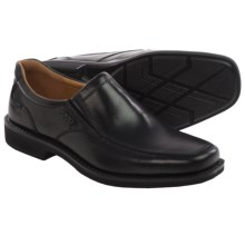 ECCO Seattle Leather Shoes - Slip-Ons (For Men) in Black - Closeouts