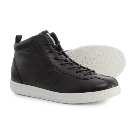 ECCO Soft 1 High-Top Sneakers - Leather (For Women) in Black Droid