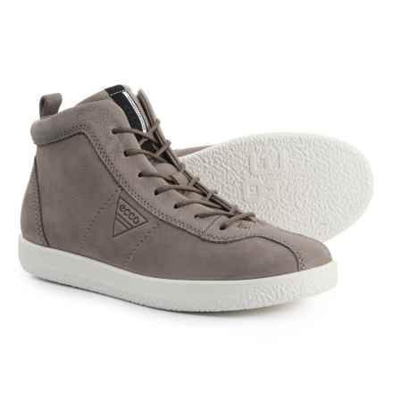 ECCO Soft 1 High-Top Sneakers - Leather (For Women) in Warm Grey Chagall - Closeouts