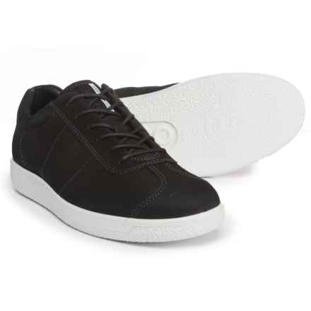 ECCO Soft 1 Sneakers - Suede (For Men) in Black - Closeouts