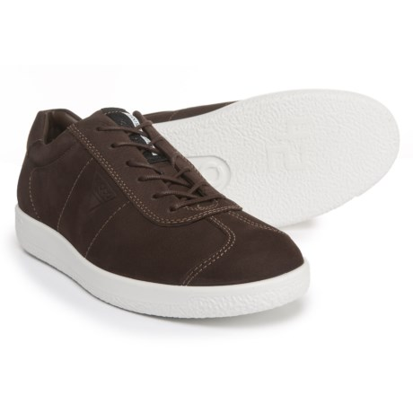 ECCO Soft 1 Sneakers - Suede (For Men) in Coffee
