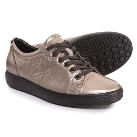 ECCO Soft 7 Sneakers - Leather (For Women) in Warm Grey - Closeouts