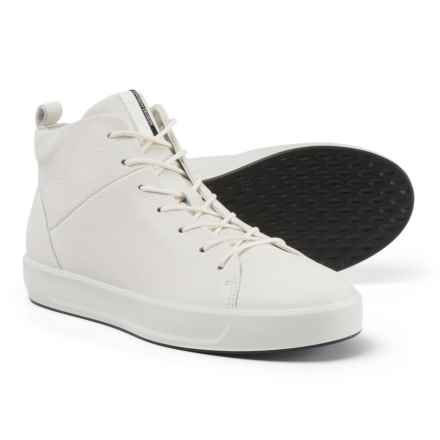 ECCO Soft 8 Ankle High Sneakers - Leather (For Women) in White Trento - Closeouts