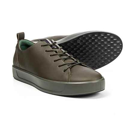 ECCO Soft 8 Sneakers - Leather (For Men) in Leaf - Closeouts