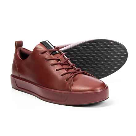 ECCO Soft 8 Sneakers - Leather (For Men) in Rust - Closeouts