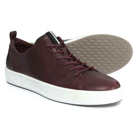 ECCO Soft 8 Sneakers - Leather (For Women) in Bordeaux - Closeouts
