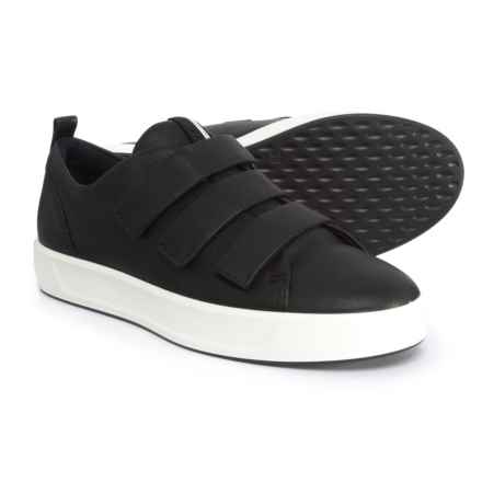 ECCO Soft 8 Strap Sneakers - Leather (For Women) in Black - Closeouts