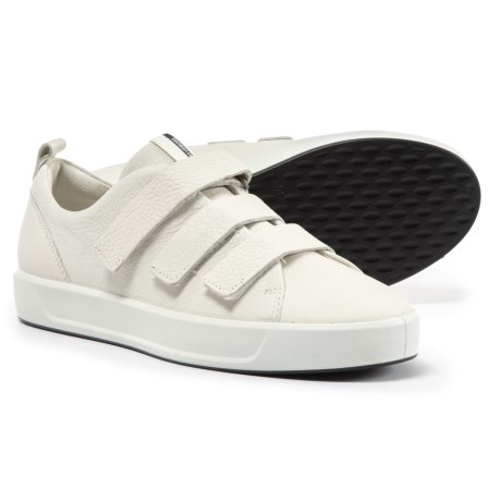 ECCO Soft 8 Strap Sneakers - Leather (For Women) in White