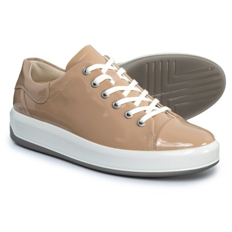 ECCO Soft 9 Sneakers - Leather (For Women) in Ginger