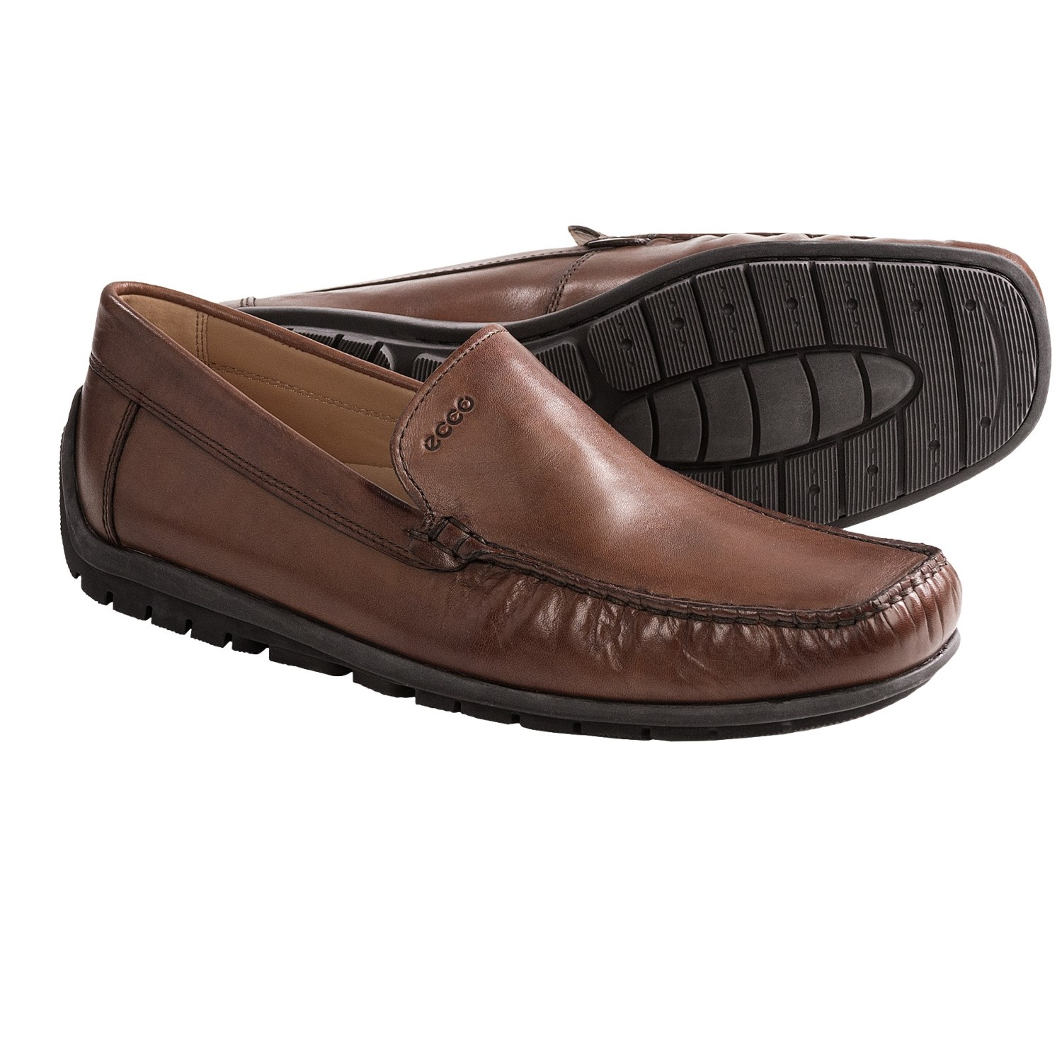 Moccasin style shoes are made for both men and women and are usually worn during the winter months. Moccasins were originally worn by the first settlers in North .