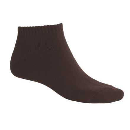 ECCO Solid No-Show Golf Socks - Midweight, Combed Cotton (For Men) in Brown - Closeouts