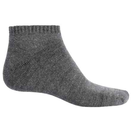ECCO Solid No-Show Golf Socks - Midweight, Combed Cotton (For Men) in Charcoal - Closeouts