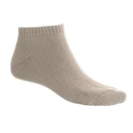 ECCO Solid No-Show Golf Socks - Midweight, Combed Cotton (For Men) in Khaki - Closeouts