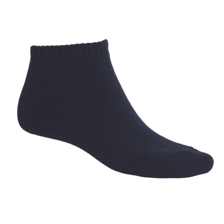 ECCO Solid No-Show Golf Socks - Midweight, Combed Cotton (For Men) in Navy