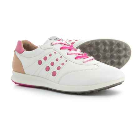 ECCO Street Evo One Golf Shoes (For Women) in White/Candy - Closeouts