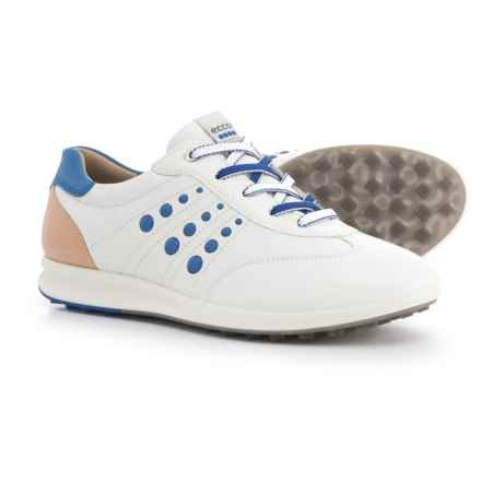ECCO Street Evo One Golf Shoes (For Women) in White/Mazarine Blue - Closeouts