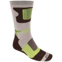 ECCO Tech Hiking Socks - Merino Wool, Crew (For Men) in Brown - Closeouts