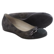 ECCO Touch 15 Ballet Flats - Leather (For Women) in Black - Closeouts
