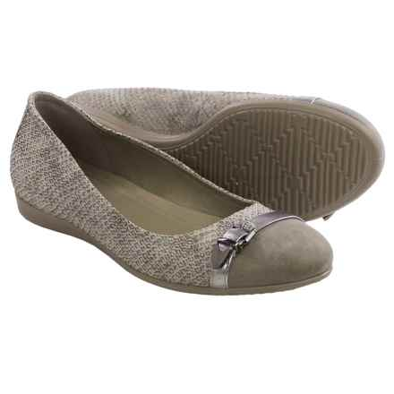 ECCO Touch 15 Ballet Flats - Leather (For Women) in Moon Rock - Closeouts