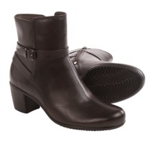 ECCO Touch 55 Leather Ankle Boots (For Women) in Coffee - Closeouts