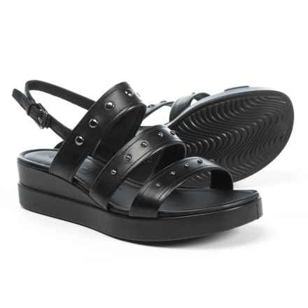 ECCO Touch Plateau Sandals - Leather (For Women) in Black Nova - Closeouts
