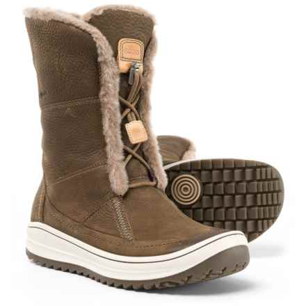 ECCO Trace Tie Snow Boots - Leather (For Women) in Birch Quarry - Closeouts