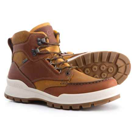 ECCO Track 25 Gore-Tex® Moc-Toe Hiking Boots - Waterproof, Leather (For Men) in Amber/Oak - Closeouts