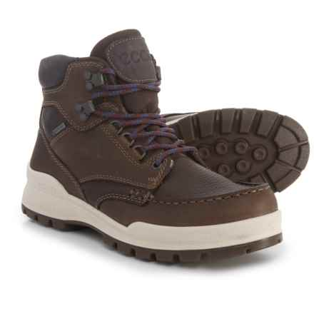 ECCO Track 25 Gore-Tex® Moc-Toe Hiking Boots - Waterproof, Leather (For Women) in Cocoa Brown/Coffee/Shale - Closeouts