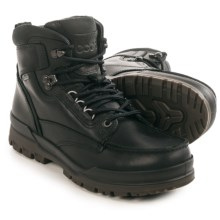 ECCO Track 6 Gore-Tex® Moc-Toe Hi Boots - Waterproof, Leather (For Men) in Black/Black - Closeouts
