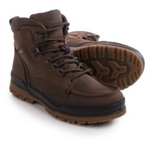 ECCO Track 6 Gore-Tex® Moc-Toe Hi Boots - Waterproof, Leather (For Men) in Cocoa Brown/Coffee - Closeouts