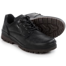 ECCO Track 6 Gore-Tex® Plain Toe Lo Shoes - Waterproof, Leather (For Men) in Black/Black - Closeouts